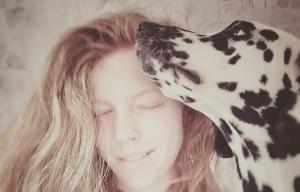 Dalmatiner Lilly mit Besitzerin